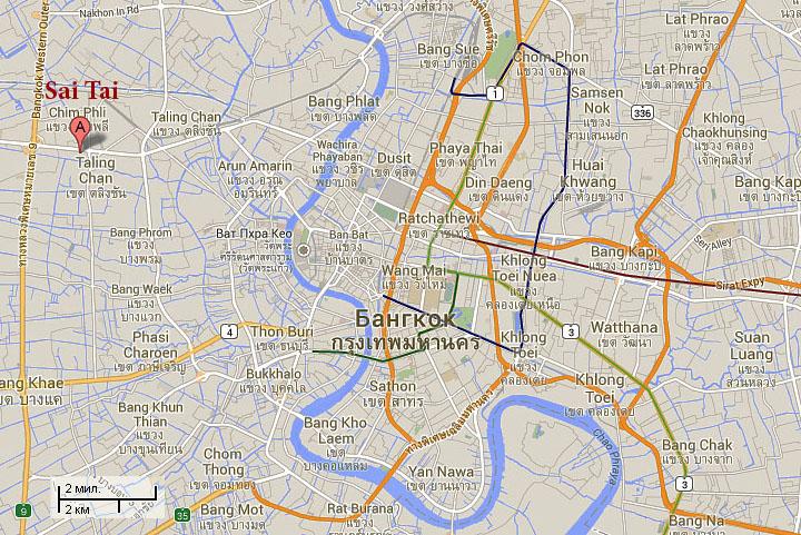 Автобусная схема бангкок