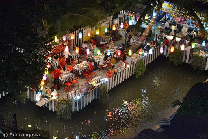 Куда сходить вечером в Бангкоке. Где провести вечер в Бангкоке. Уличные рестораны.