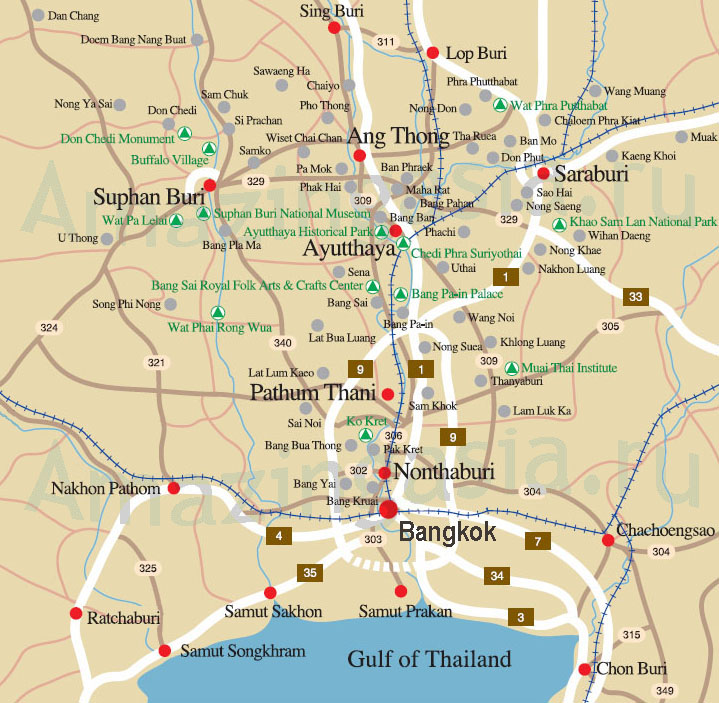 Lopburi map