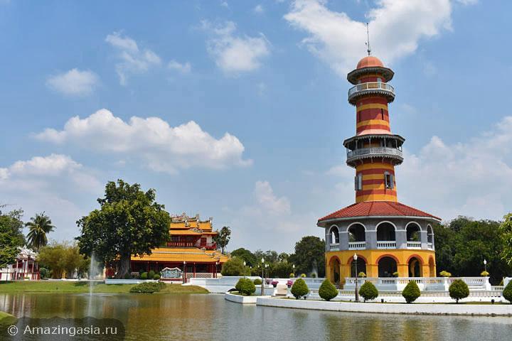 достопримечательности рядом с Бангкоком, дворец Банг Па Ин, летняя резиденция тайских королей