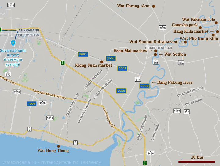 Wat Pho Bang Khla map