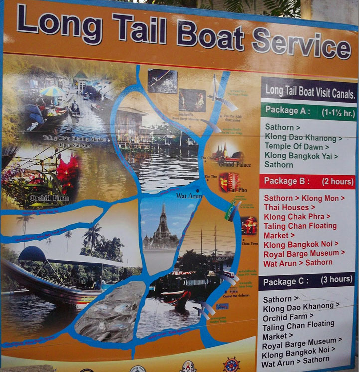 Chao Phraya boat tours map