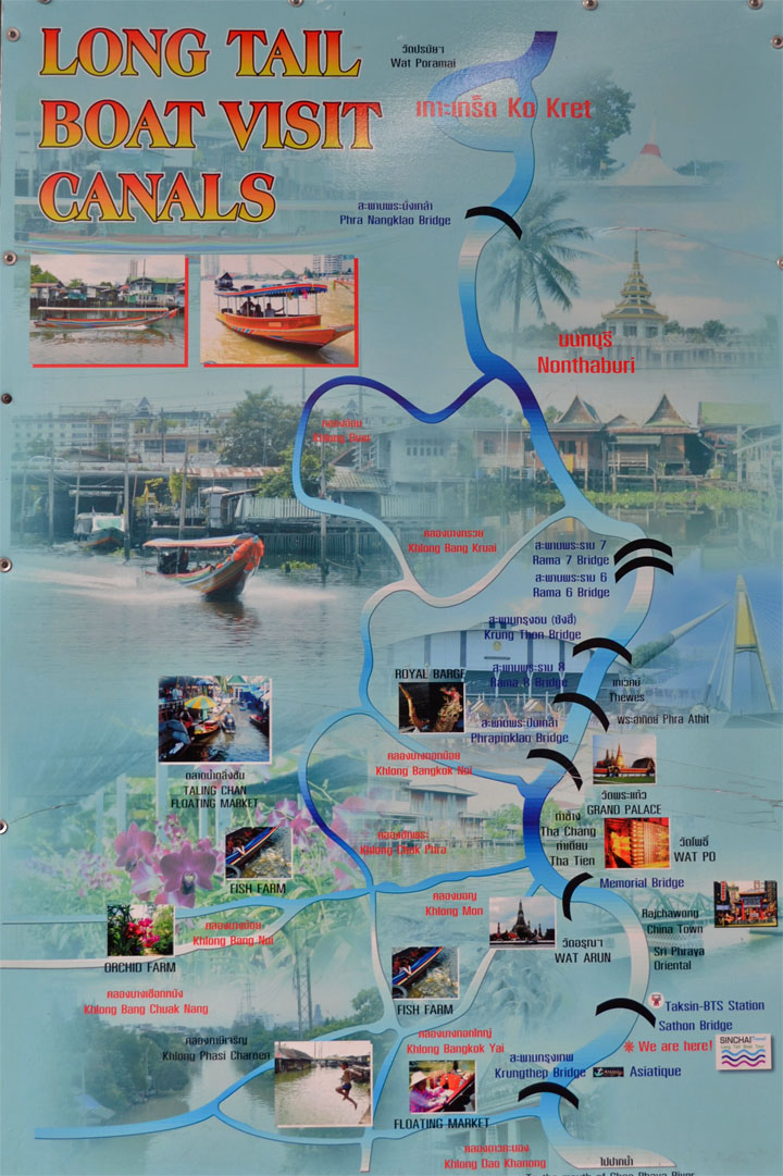 Chao Phraya khlongs map