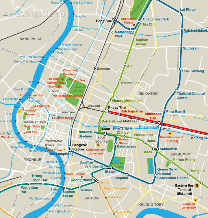 Chao Phraya map