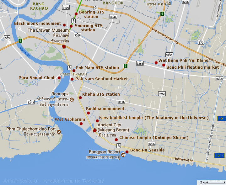 Samut Prakan map