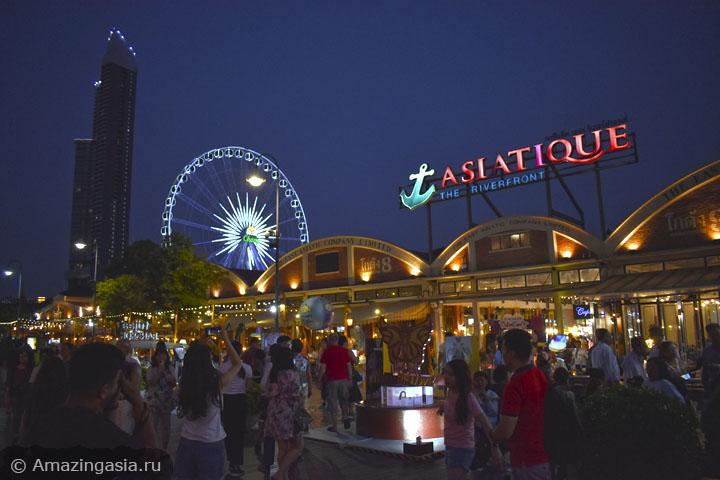 Где можно прокатиться по реке вечером в Бангкоке. Развлекательный комплекс Азиатик.