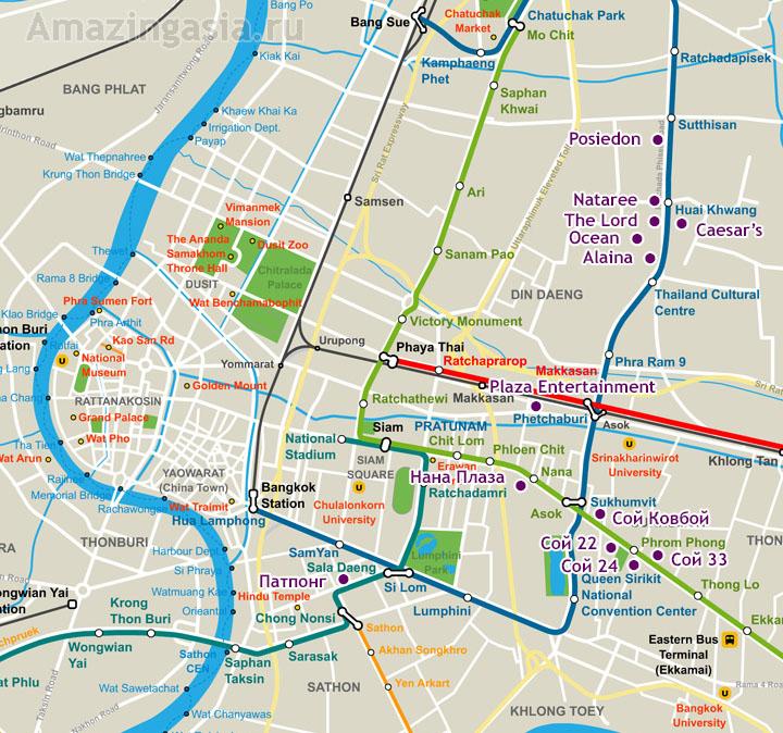 Ночная жизнь в Бангкоке и секс-туризм в Бангкоке. Злачные места на карте Бангкока.