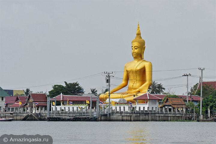 Как добраться из Бангкока до острова Ко Крет в Нонтхабури. Биг Будда рядом с паромной переправой.