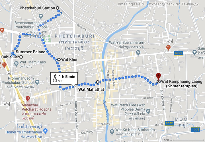 Карта города Петчабури