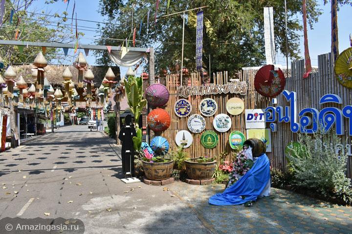 Достопримечательности провинции Ратчабури (Ratchaburi). Рынок в деревне Кху Буа.