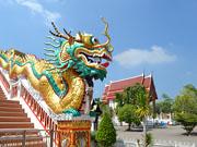 Храм Ват Чонг Лом, провинция Самут Сонгкрам (Samut Songkhram)