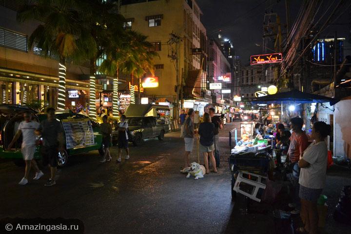 Достопримечательности улицы Сукхумвит Роуд (Sukhumvit Road). Бары, пабы и рестораны.
