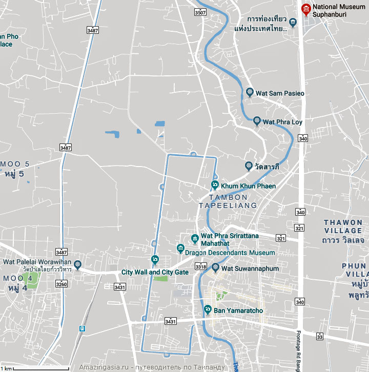 Suphanburi National Museum map