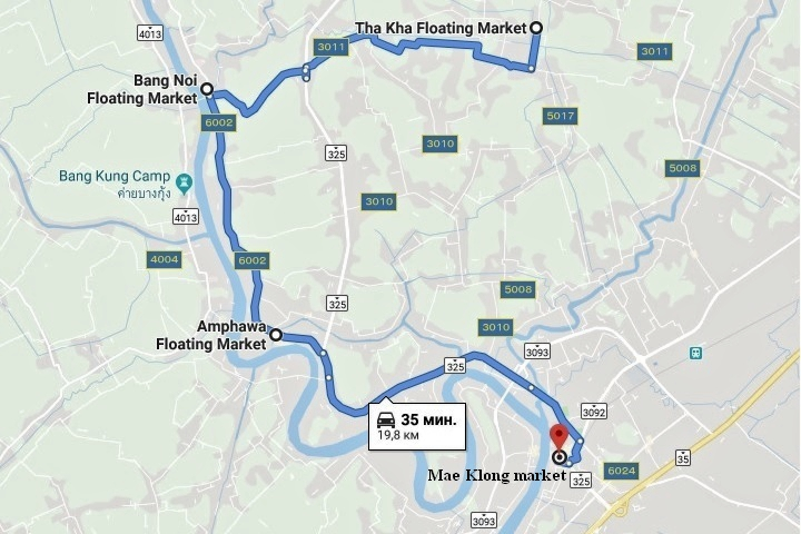 Bang Noi floating market map