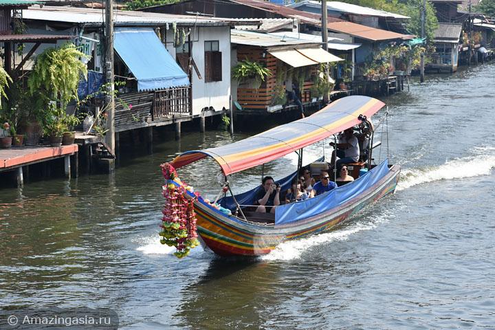 Как добраться на лодке до храма Ват Пак Нам (Wat Paknam), Бангкок