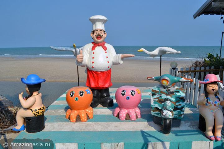 Фото пляжей Ча Ама (Cha Am), один из пляжных ресторанчиков