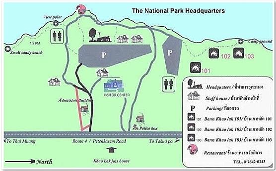 карте национального парка