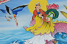 Китайский храм рядом с национальным парком Sri Phang Nga