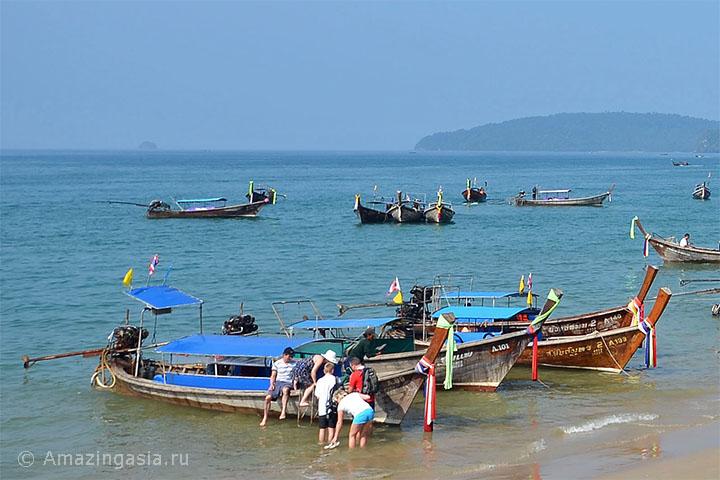 Ао Нанг и Краби Таун, транспорт на полуостров Рейли