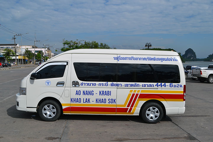 Минибас (air conditioned van, minibus), провинция Краби