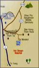 Krabi hot springs map