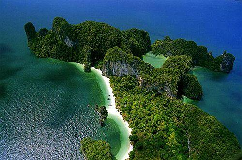 Фото пляжа острова краби