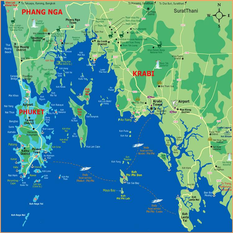 Карта острова Ланта, Карта