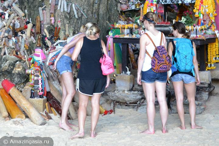 Пляж Прананг (Phra Nang, Phranang), полуостров Рейли, провинция Краби, Таиланд