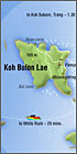 koh Bulon map