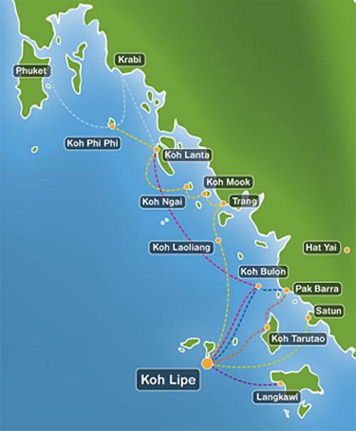 Схема маршрутов кораблей к