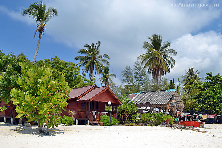 Отель Power Beach Resort, пляж Санрайз (Sunrise Beach), остров Липе (Koh Lipe)
