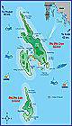 Карта островов Пхи Пхи, Тайланд