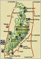 Namtok Ngao map
