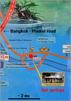 Ranong Hot Springs map