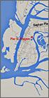 Ranong Town map