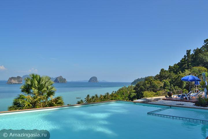 Острова Транг. Отель Koh Ngai Cliff Beach Resort.