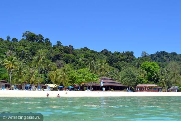 Острова Транг. Отель Koh Hai Fantasy Resort на острове Нгай.