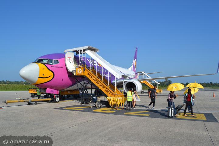 Как добраться до островов Транг. Фото самолёта компании Nok Air.