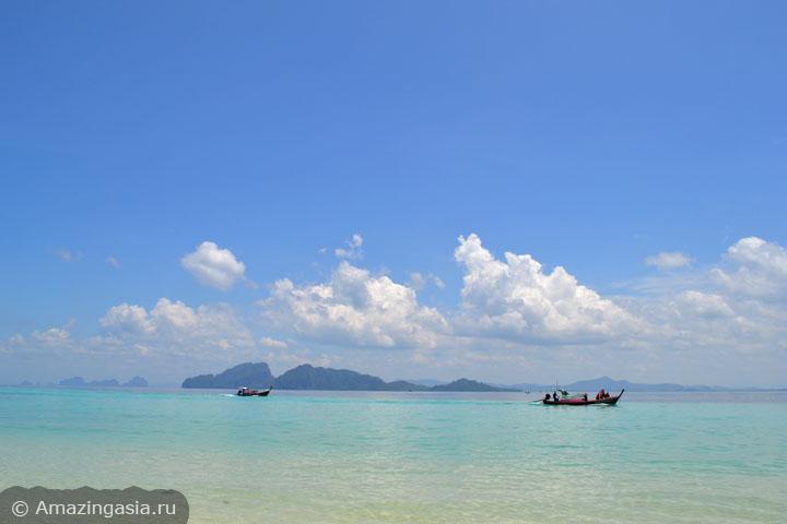 Острова Транг. Вид с пляжа острова Крадан в сторону острова Мук.