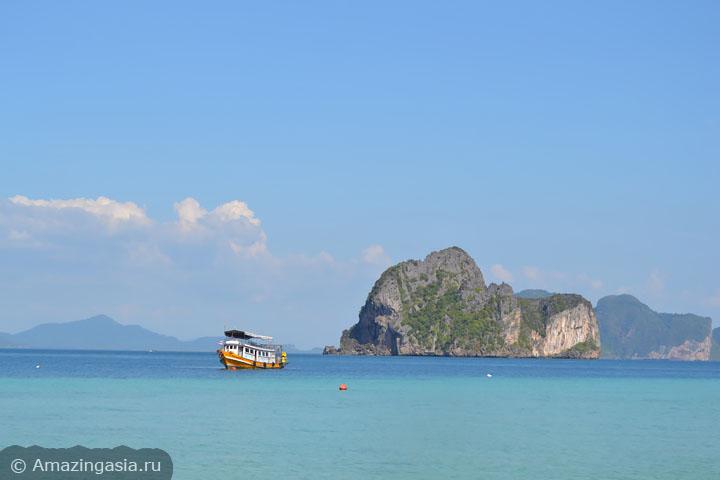 Острова Транг. Вид с пляжа острова Ко Нгай.